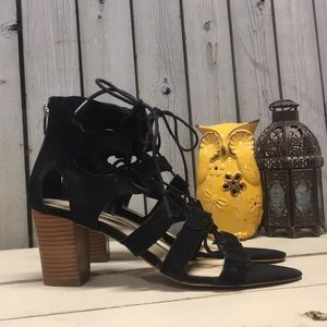 Marc Fisher Suede Lace up Heels